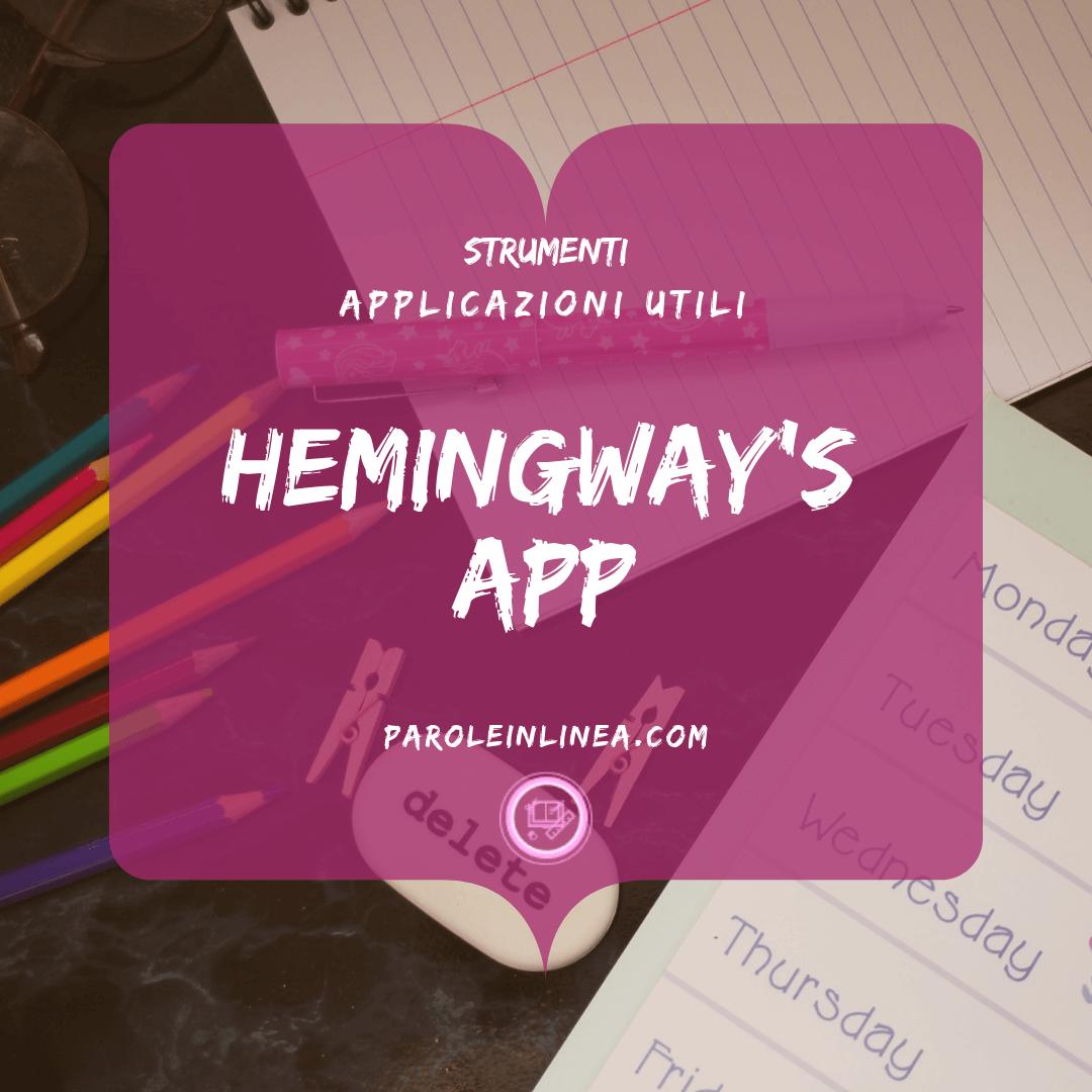 Immagine con un bubble a forma di libro per l'articolo sulle #app il #timemanagement e il #writinghacks #Hemingway #Hemingwayapp