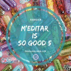 Cerchio con iscrizione: Meditar is so good su parole in linea
